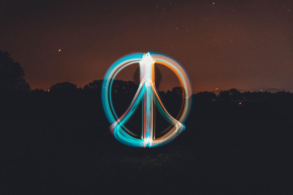 foto del simbolo de paz